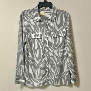 Michael Kors Button Front Blouse